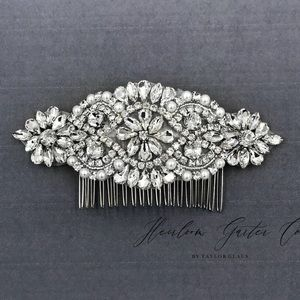 NEW handmade bling rhinestone occasion hair comb